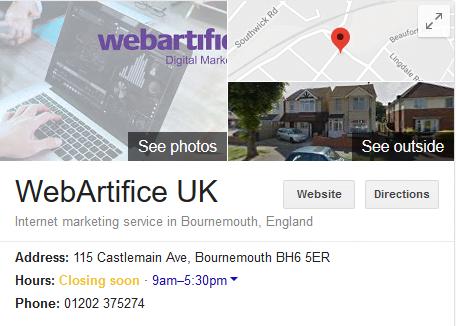 Webartifice One box Result